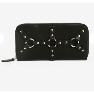 Black harness wallet gothic bondage o-ring wallet